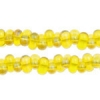 Bow Beads (Farfalle) 3.2x6.5mm Yellow Rainbow Transparent